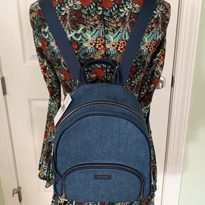 Kate spade backpack dawn denim medium new bag blue